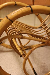 franco albini rattan chair details midcentury vintage modern design