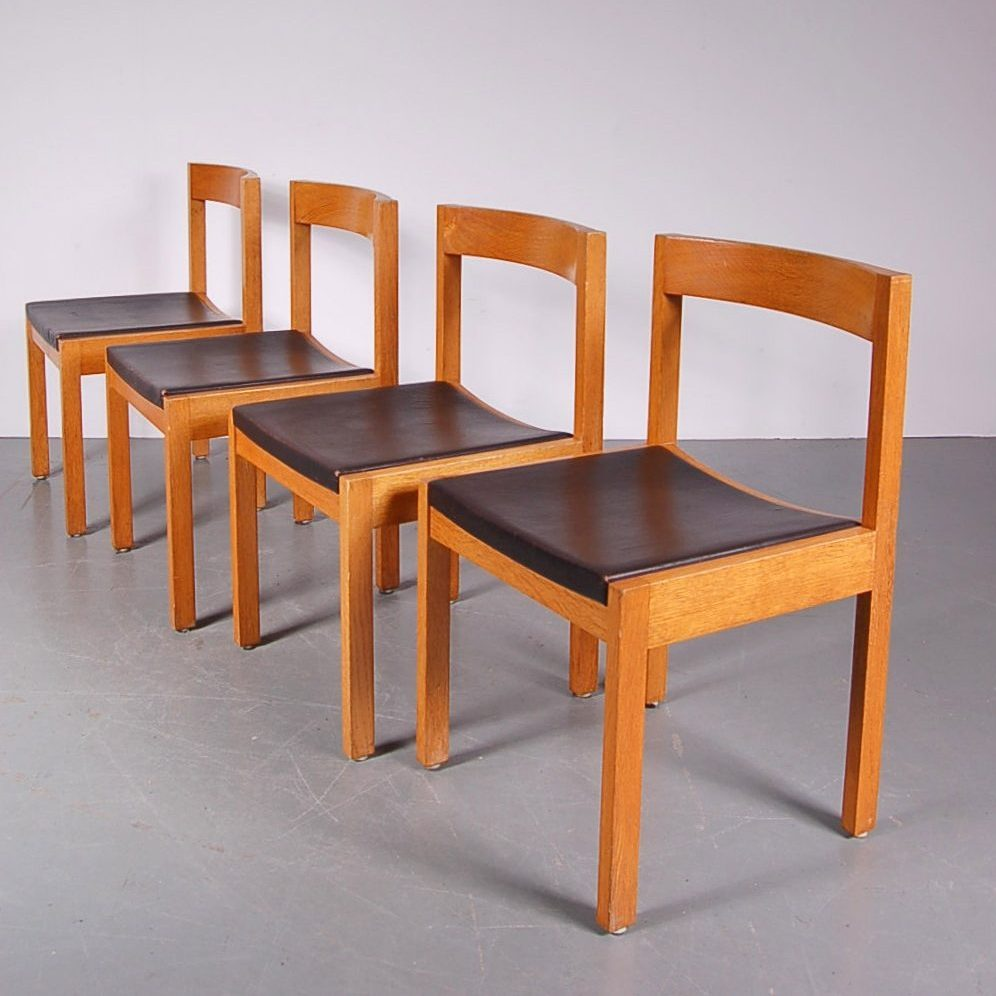 1960's Unique set of four dining chairs Produced:AZS Meubelen / Netherlands Design:Gerard Geytenbeek