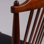 1950's Scandinavian styled rosewood dinner chairs with new black skai upholstery