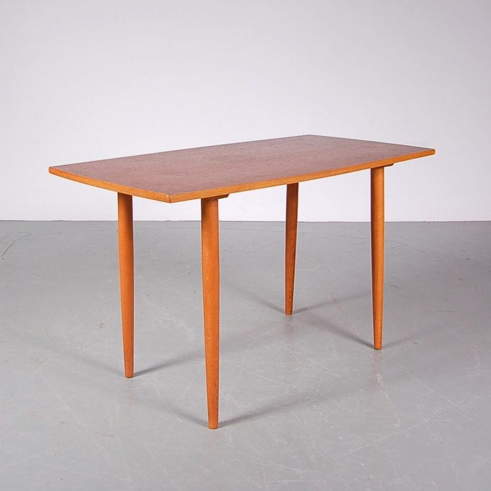 1950s Square birch coffee table produced by Tingströms in Sweden