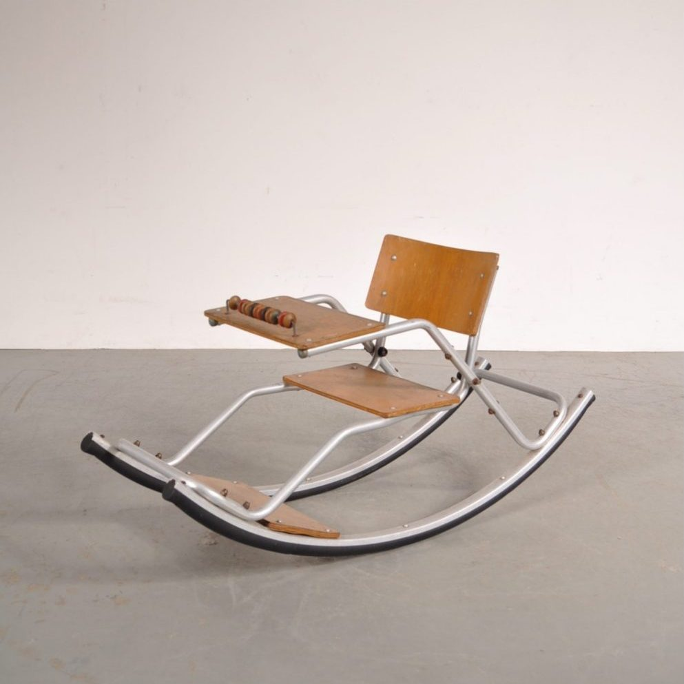 1950s Children rocking chair produced in the Netherlands