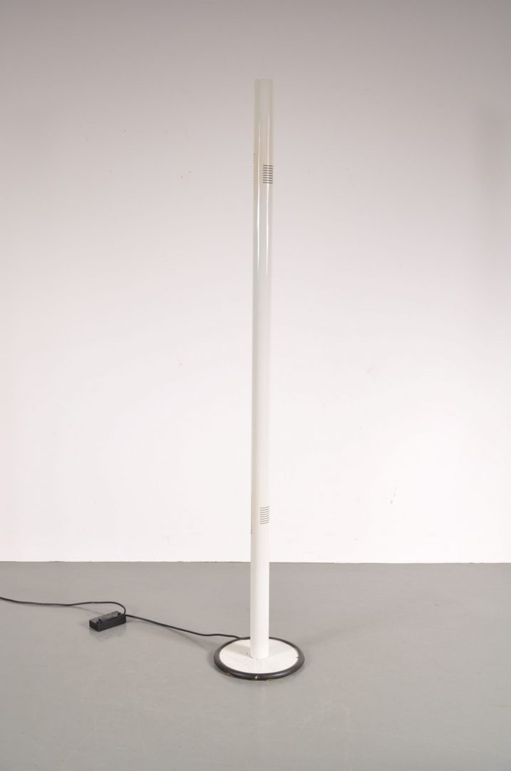 1970 aluminium floor lamp de vreugde design 1970s beautiful styled white aluminium floor lamp aloadofball Gallery