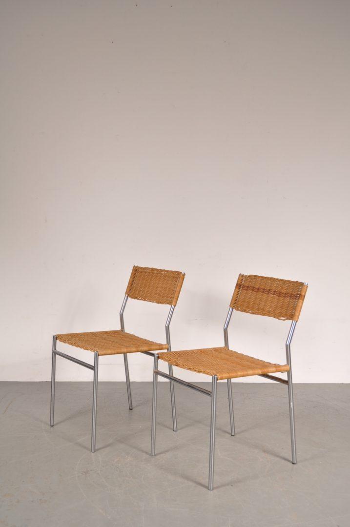 1960s minimalist martin visser dining chairs de vreugde for Minimalist art 1960