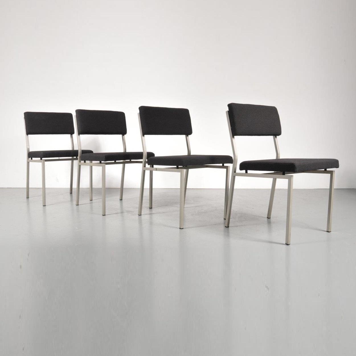 1960s Minimalist Dutch design dining chairs by Martin Visser for Spectrum, Netherlands