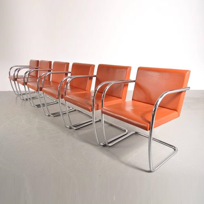 "Stock of ""BRNO"" Chairs by Mies Van Der Rohe for Knoll International, USA, 1970s"