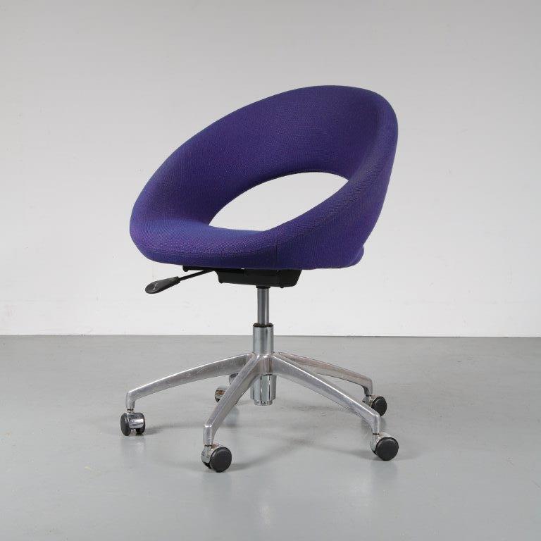 m22695 2000s Nina D office chair chrome / fabric yellow René Holten Artifort / Netherlands