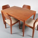 Danish dining set by Henning Kjaernulf for Vejle Stole Møbelfabrik, 1960s