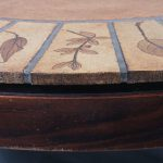 1970s Beautiful French tile table on wooden base Roger Capron Capron / France