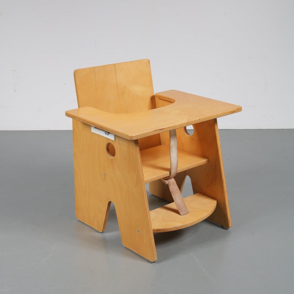 m22518 1960s Children chair in Hans J Wegner style birch Netherlands