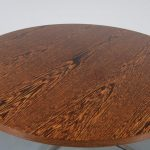 m22899 1960s Round coffee table on chrome metal crossbase with wengé top Topform / Netherlands