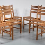 INC35 1950s dining chairs solid oak kurt ostervig denmark KP Mobler Paul Kurt Ostervig KP Mobler / Denmark