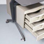 m22708 1950s Unique industrial style L-shaped desk Studio BBPR Olivetti / Italy