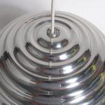 L4130 1960s Unique aluminium molded Italian hanging lamp Castiglioni Flos / Italy
