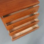 m23081 1950s Teak drawer cabinet with brass grips