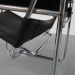 m22511 1960s Wassily chair by Gavina in chrome metal with black canvas upholstery Marcel Breuer Gavina / Italy