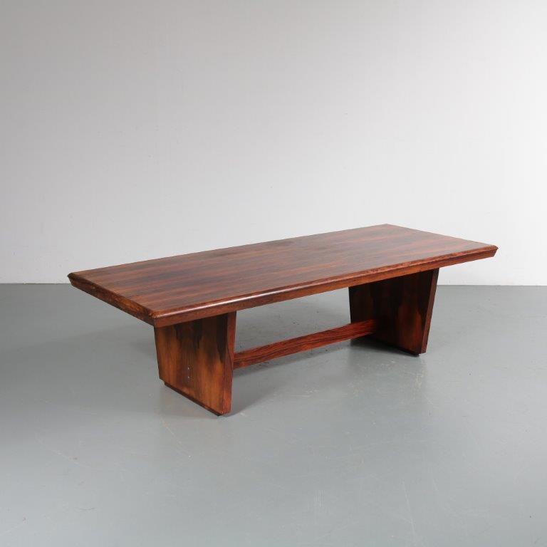 18091 (522) m22960 1960s Beautiful rosewooden rectangular coffee table Denmark