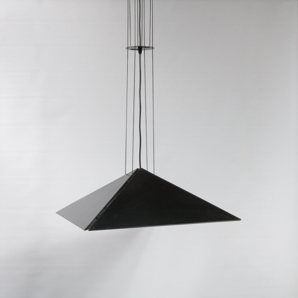 L4084 Wonderful black metal hanging lamp by Rodney Kinsman for Biefferplast / Italy