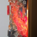 1950s Colourful glass wall sconce manufactured by Raak in the Netherlands