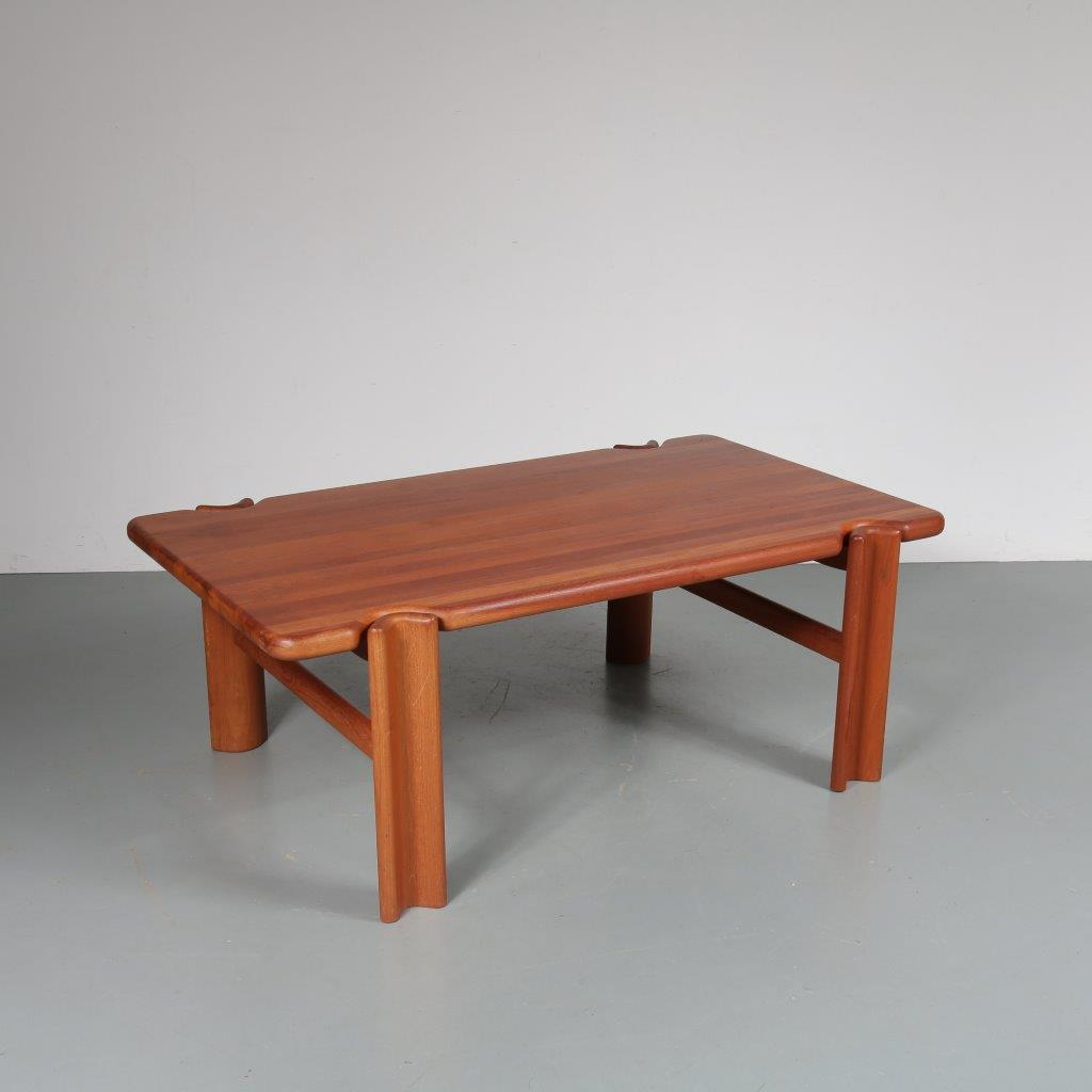 m22994 1970s Solid teak rectangular Danish coffee table Denmark