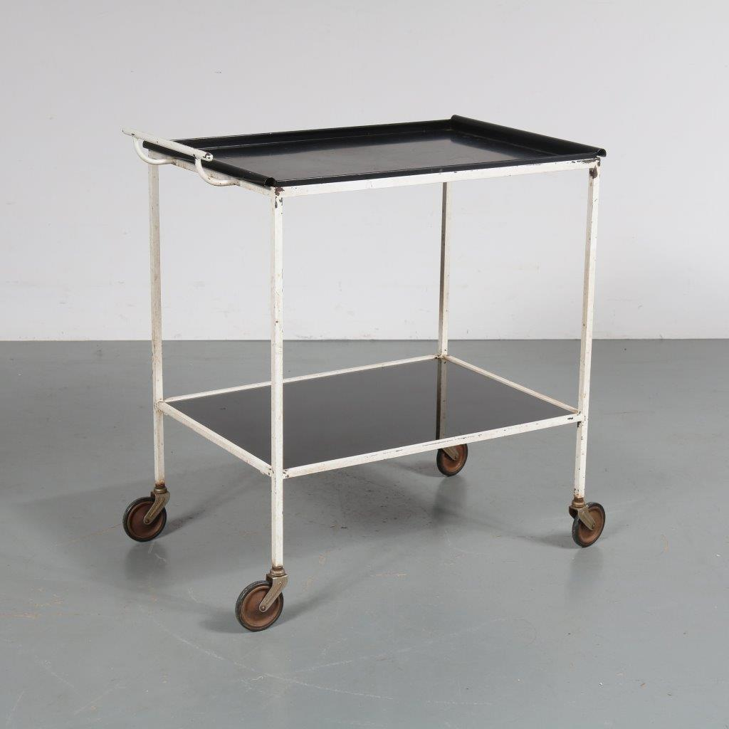 m23062 Biarritz Serving Trolley by Mathieu Matégot for Artimeta, Netherlands, 1957