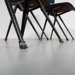 m23060 1950 Set 4x Result black frame, blue upholstery Friso Kramer Ahrend / de Cirkel NL