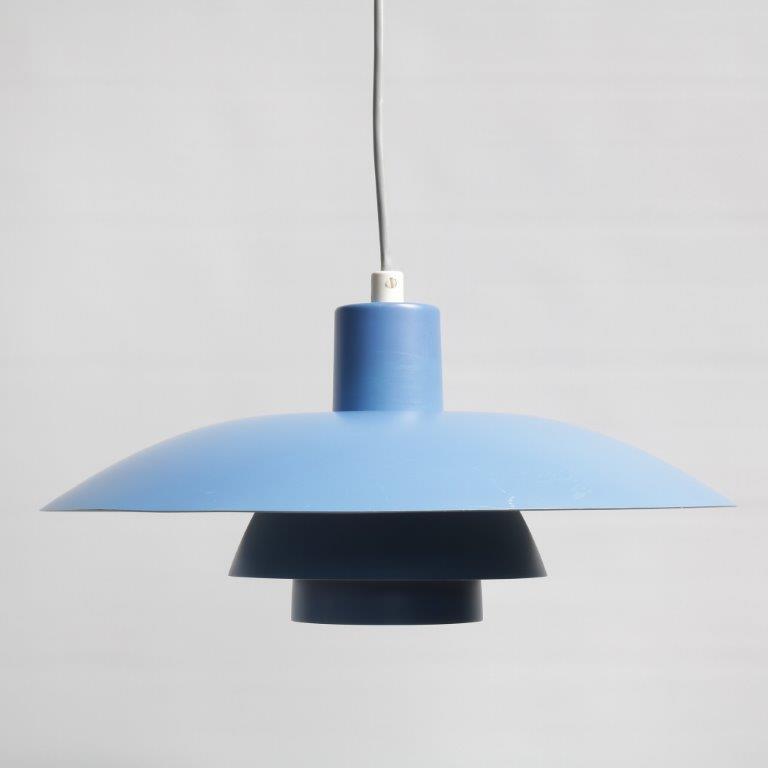 1960s PH4/3 lamp Louis Poulsen light blue Poul Henningsen Louis Poulsen / Denmark