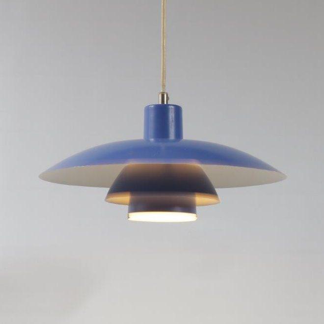 L4150 1960s PH4/3 lamp Louis Poulsen light blue Poul Henningsen Louis Poulsen / Denmark