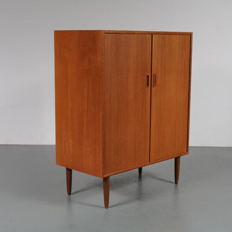 m23188 1950s Teak cabinet with two doors Formule Meubels / Netherlands