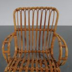 m23091 1950s Rattan Children chair Netherlands