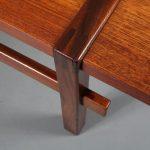 m23218 1960s Teak rectangular coffee table with reversable mechanism top Topform / Netherlands