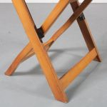 m23219 1950s Nice set of 6 birch wooden folding chairs Denmark