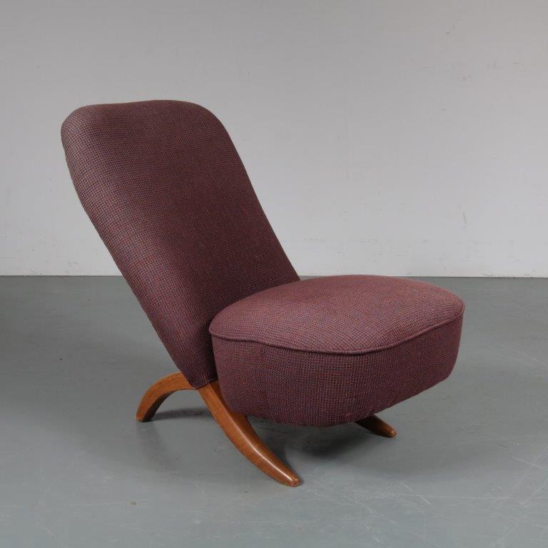 m23291 1950s Congo chair origianl upholstery Louis van Teeffelen WéBé / Netherlands