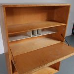 m23208 1950s Secretary cabinet in birch wood with curved plywood legs Cees Braakman Pastoe / Netherlands