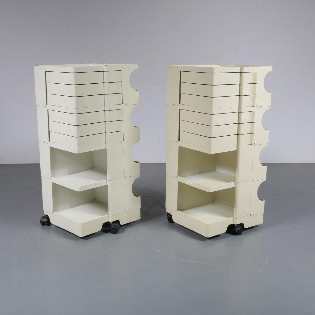 m23325 1970s White plastic Italian architects trolley Joe Colombo Bieffeplast / Italy