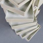 m23325 1970s White plastic Italian architects trolley Joe Colombo Bieffeplast / Italy