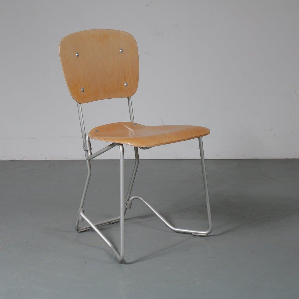 m23317 1960s Early Aluflex chair, folding model Armin Wirth Hans Zollinger Sohre / Switzerland