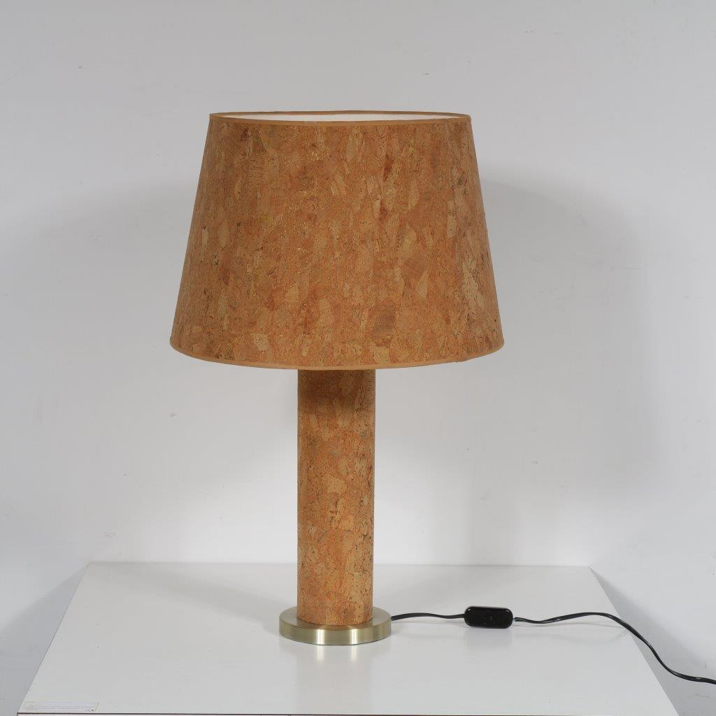 L4177 1970s Cork with brass table lamp Ingo Maurer M Design / Germany