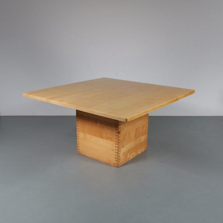 1960s Ate van Apeldoorn Houtwerk Hattem square dining table