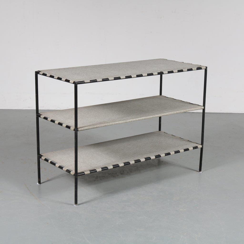m23329 1950s Small Abstracta rack with metal shelves Poul Cadovius Royal System / Denmark