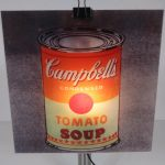 L4256 1999 Copylight table lamp (can) Andy Warhol print Gerhard Trautmann Brainbox / Germany