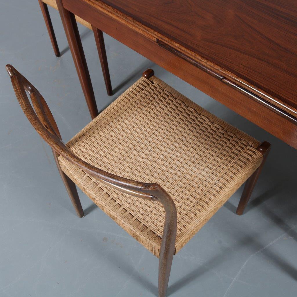 Stupendous 1904 3 253 M23434 1960S Dark Stained Beech Dining Set 4 Customarchery Wood Chair Design Ideas Customarcherynet