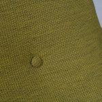 m23290 1950s Rare easy chair on birch wooden base with green fabric J. van Gunteren Gelderland / Netherlands