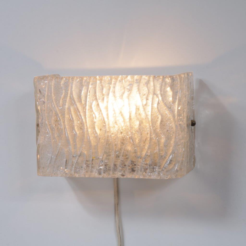 L4276 1960s Wall lamp with thick glass Herda / Netherlands