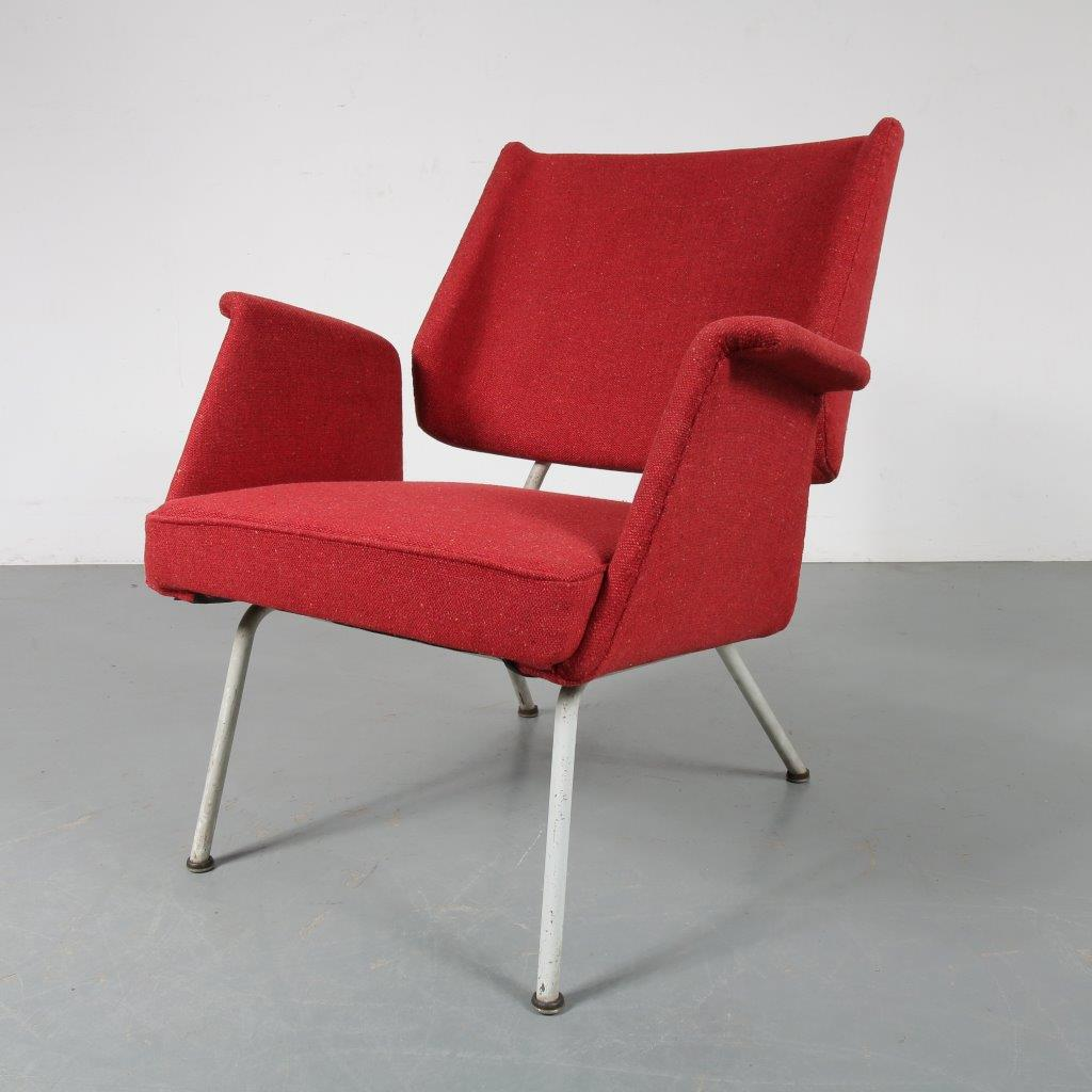 INC55 1950s Dutch midcentury chair Netherlands new upholstery