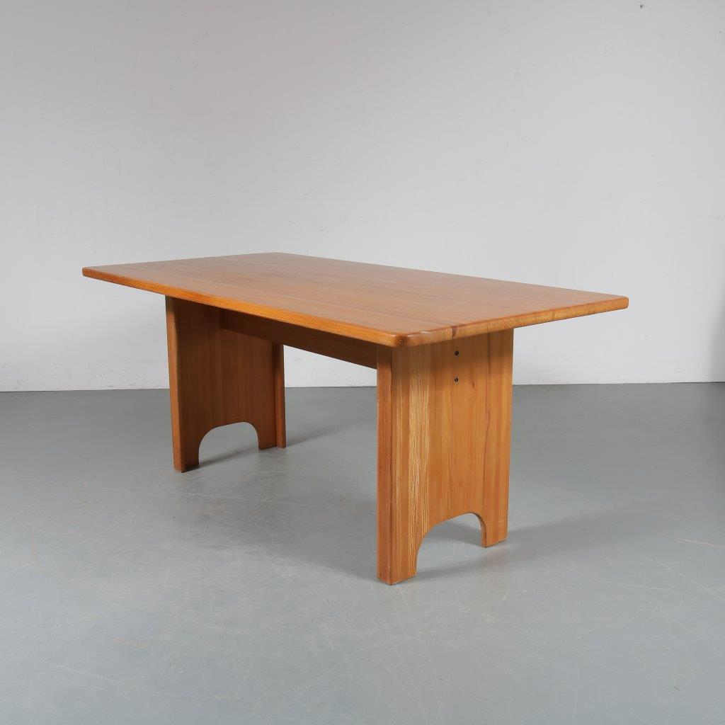 m23445 1960s Pine dining table Yngve Ekstrom Swedese / Sweden