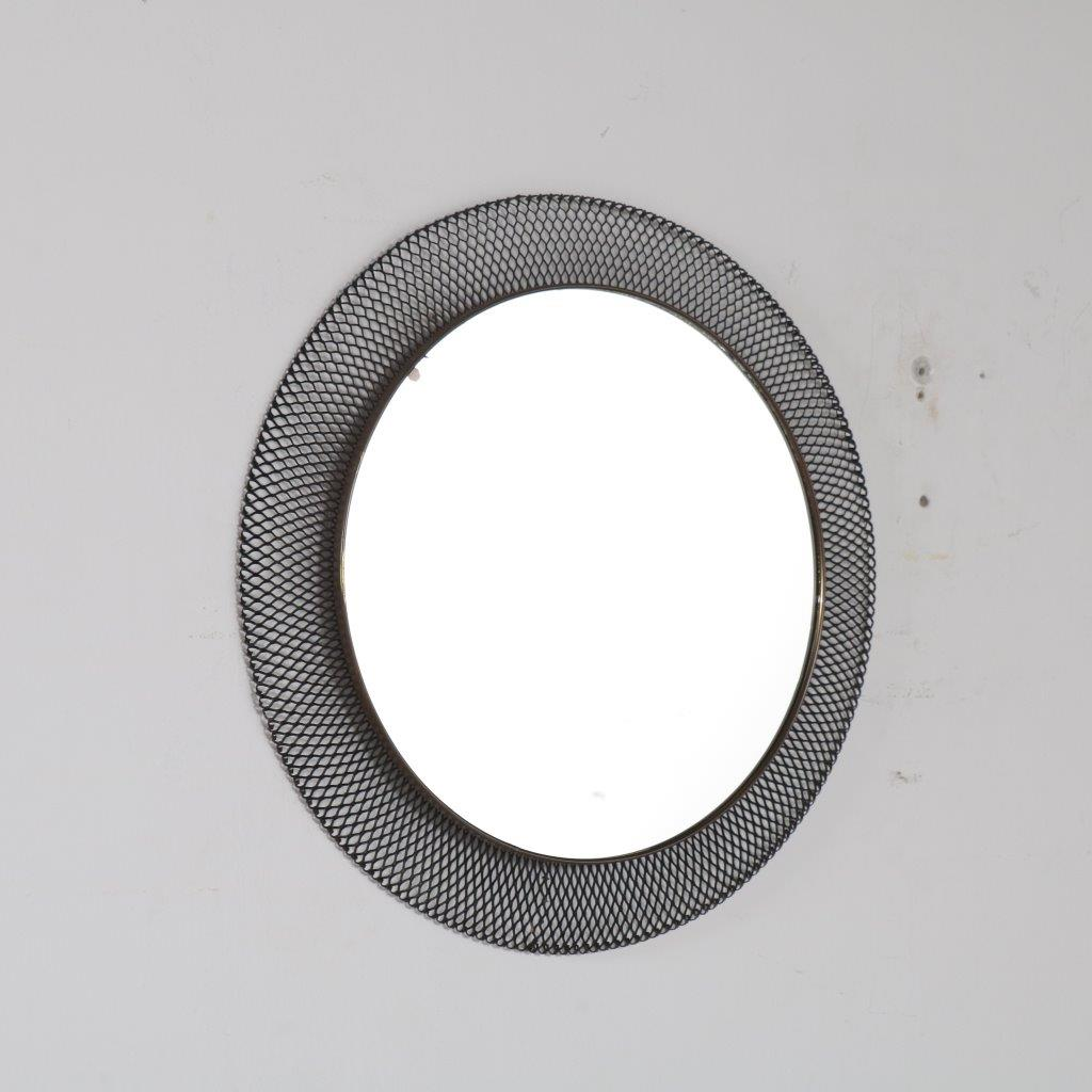 m22688 1950s Perforated metal mirror Mathieu Mategot Ateliers Mategot / France
