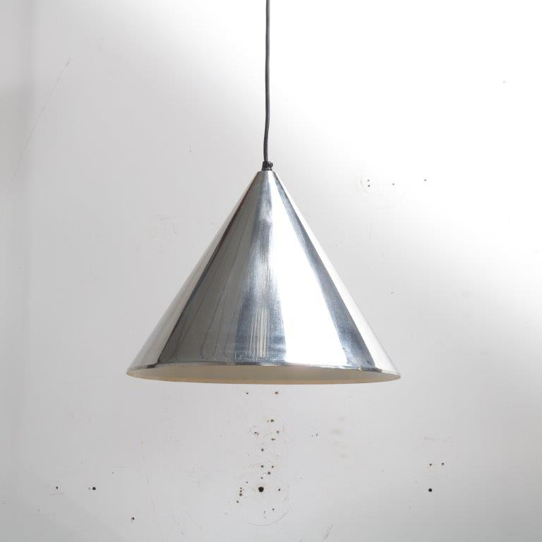 L4172 1960's chrome metal hanging lamp model Billiard Arne Jacobsen Louis Poulson/DK