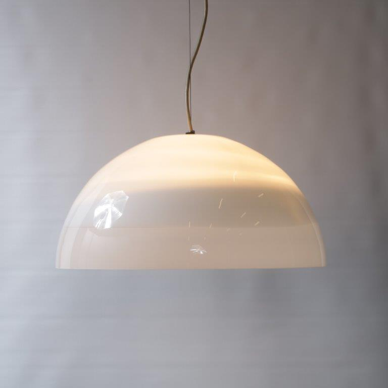 L4136 1970s High quality Murano glass hanging lamp Leucos / Italy