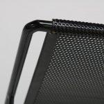 m22948 1950s Wall mounted coat rack black perforated metal with hooks Mathieu Matégot Artimeta / Netherlands