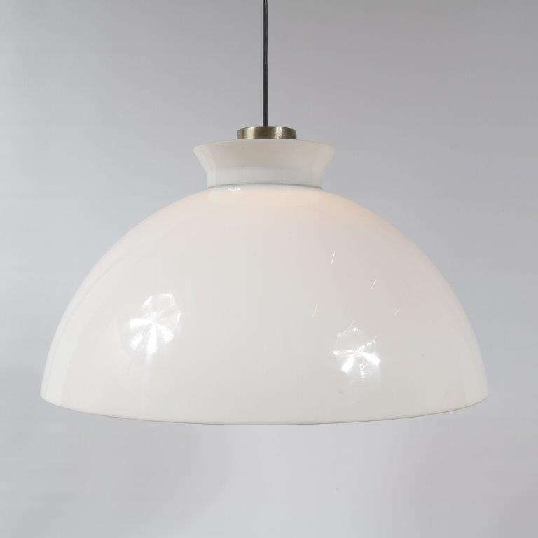 1960s Glass hanging lamp attributed to Achille Castiglioni for Flos, Italy